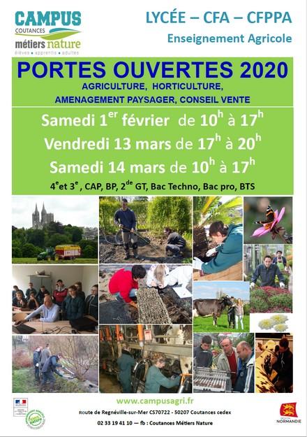 Journées Portes Ouvertes Campus Cétiers Nature Coutances 2020